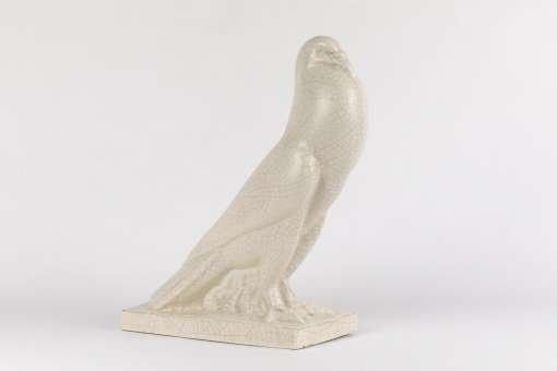 French Art Deco Craquele Pigeon